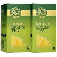 LaPlant Lemon Green Tea - 50 Tea Bags (Combo Of 2)