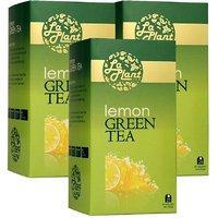 LaPlant Lemon Green Tea - 75 Tea Bags (Combo Of 3)