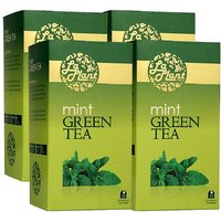 LaPlant Mint Green Tea - 100 Tea Bags (Pack Of 4)