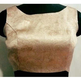 Stitch O Fab Gold Brocade Women Blouse-103