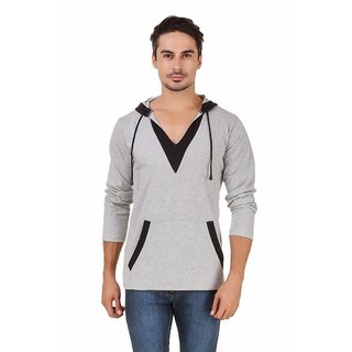 Aurelio Marco Solid Hooded Multicolor Men's T-Shirt