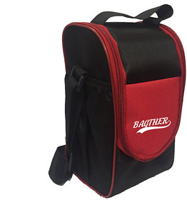 Bagther Red and Black Lunch Box Bag