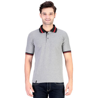 COFAGIF Polo Half Sleeve Men's  Grey T-Shirt