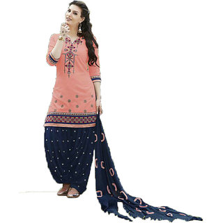 FKART Peach Cotton Salwar
