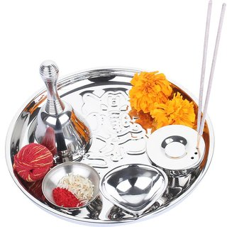 Lovato Double Walled Stainless Steel Pooja Thali