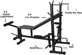 Health And Fitness Equipment 8 IN 1 Bench For Home Gym