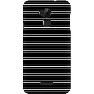 Mobicture Thin White Stripes Premium Printed High Quality Polycarbonate Hard Back Case Cover For Coolpad Note 3 With Edge To Edge Printing