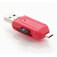 Sketchfab Compatible OTG Smart Micro USB OTG Smart Card Reader - Assorted Color