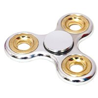 Chrome Edition Metallic Fidget Hand Spinner Toy for Kids  Adults (colour may vary)