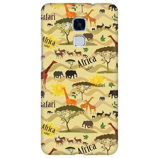 Mobicture African Safari Premium Printed High Quality Polycarbonate Hard Back Case Cover For Huawei Honor 5c With Edge To Edge Printing