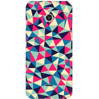 Mobicture Colorful Triangles Premium Printed High Quality Polycarbonate Hard Back Case Cover For InFocus M2 With Edge To Edge Printing