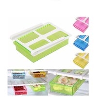 connectwide Universal Creative Fridge Tray- New twitch hanging drawer dividers - Refrigerator Storage Holder Pull