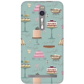 Mobicture Sweet Buffet Premium Printed High Quality Polycarbonate Hard Back Case Cover For Asus Zenfone 2 With Edge To Edge Printing