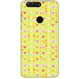 Mobicture Cute Colorful Hearts Premium Printed High Quality Polycarbonate Hard Back Case Cover For Huawei Honor 8 With Edge To Edge Printing