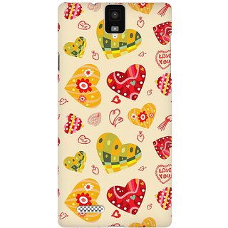 Mobicture Love Abstract Premium Printed High Quality Polycarbonate Hard Back Case Cover For InFocus M330 With Edge To Edge Printing