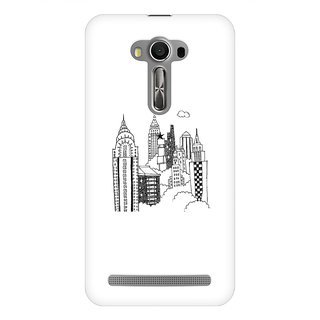 Mobicture Cityline Premium Printed High Quality Polycarbonate Hard Back Case Cover For Asus Zenfone Selfie With Edge To Edge Printing