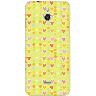 Mobicture Cute Colorful Hearts Premium Printed High Quality Polycarbonate Hard Back Case Cover For InFocus M2 With Edge To Edge Printing