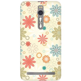 Mobicture Floral Romance Premium Printed High Quality Polycarbonate Hard Back Case Cover For Asus Zenfone 2 With Edge To Edge Printing
