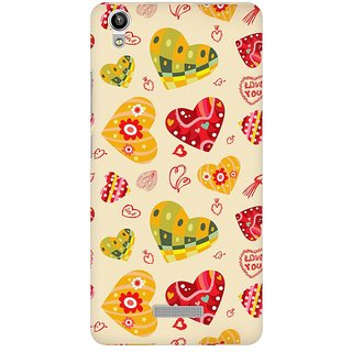 Mobicture Love Abstract Premium Printed High Quality Polycarbonate Hard Back Case Cover For Lava Pixel V1 With Edge To Edge Printing