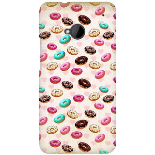 Mobicture Colorful Cupcakes Premium Printed High Quality Polycarbonate Hard Back Case Cover For HTC One M7 With Edge To Edge Printing