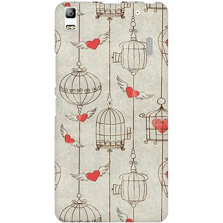 Mobicture Cage Of Love Premium Printed High Quality Polycarbonate Hard Back Case Cover For Lenovo A7000 With Edge To Edge Printing
