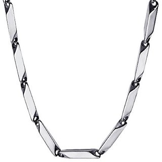 316L Stainless Steel Italian Style Thin Stick Necklace Chain Link for Men Women