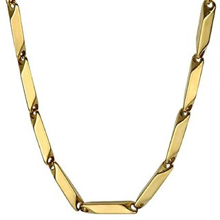 316L Stainless Steel Italian Style Thin Stick Gold Necklace Chain Link for Men / Women
