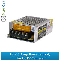 12V 5 Amp 60W DC Power Supply SMPS for CCTV Camera and LED Strip Light Lamp