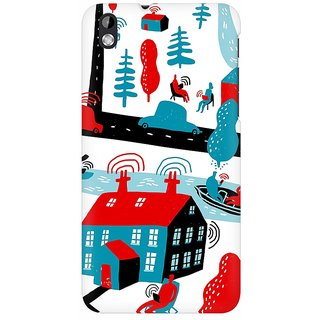 Mobicture Connectivity Premium Printed High Quality Polycarbonate Hard Back Case Cover For HTC Desire 816 With Edge To Edge Printing