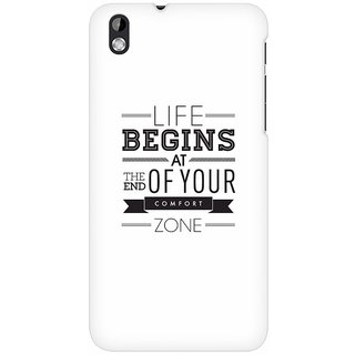 Mobicture Out Of The Comfort Zone Premium Printed High Quality Polycarbonate Hard Back Case Cover For HTC Desire 816 With Edge To Edge Printing