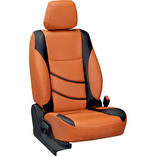 Musicar Renault Duster Orange  Leatherite Car Seat Cover with 1 Year Warranty And Steering cover  Free