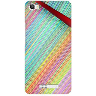 Mobicture Broken Abstract Lines Premium Printed High Quality Polycarbonate Hard Back Case Cover For Lava Iris X8 With Edge To Edge Printing