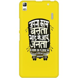 Mobicture Bhaad Me Jaaye Janta Premium Printed High Quality Polycarbonate Hard Back Case Cover For Lenovo A7000 With Edge To Edge Printing