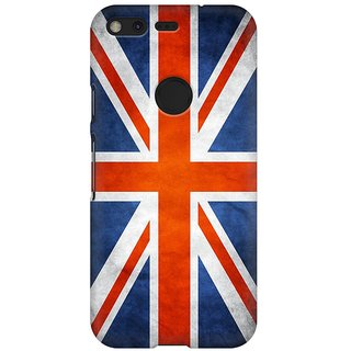 Mobicture Britain Flag Premium Printed High Quality Polycarbonate Hard Back Case Cover For Google Pixel XL With Edge To Edge Printing