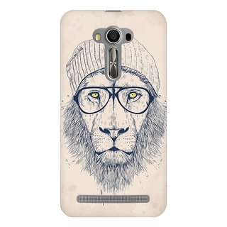 Mobicture Cool Lion Premium Printed High Quality Polycarbonate Hard Back Case Cover For Asus Zenfone Selfie With Edge To Edge Printing