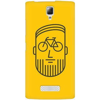 Mobicture BikeFace Premium Printed High Quality Polycarbonate Hard Back Case Cover For Lenovo A2010 With Edge To Edge Printing