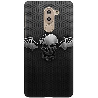 Mobicture Black  Wings Premium Printed High Quality Polycarbonate Hard Back Case Cover For Huawei Honor 6X With Edge To Edge Printing