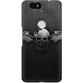 Mobicture Black  Wings Premium Printed High Quality Polycarbonate Hard Back Case Cover For Huawei Nexus 6P With Edge To Edge Printing