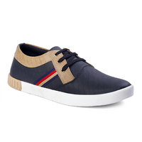 On Rockers Men's Navy And Brown Casual Lace Up Shoes