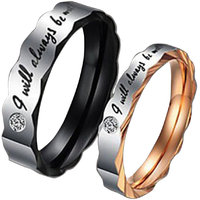 Magic Stones Love Couple Rings for Girls and Boys Best Valentines Day Gift