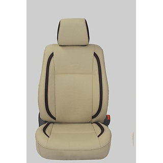 Musicar Maruti Alto 800 Beige Leatherite Car Seat Cover with 1 Year Warranty And Steering cover free