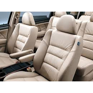 Musicar Maruti Ertiga Beige Leatherite Car Seat Cover with 1 Year Warranty AndSteering cover  Free