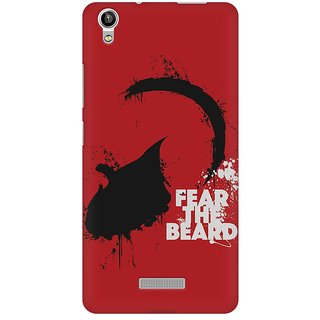 Mobicture Fear The Beard Premium Printed High Quality Polycarbonate Hard Back Case Cover For Lava Pixel V1 With Edge To Edge Printing