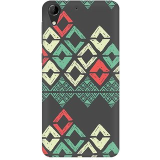Mobicture Grey Rhombus Premium Printed High Quality Polycarbonate Hard Back Case Cover For HTC Desire 728 With Edge To Edge Printing