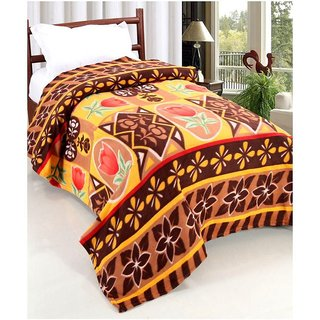 Peponi Floral Warm and Soft Comfortable Fleece Single Bed Blanket 55X90 inch