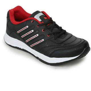 Granite Men's Black Lace-up Running Shoes