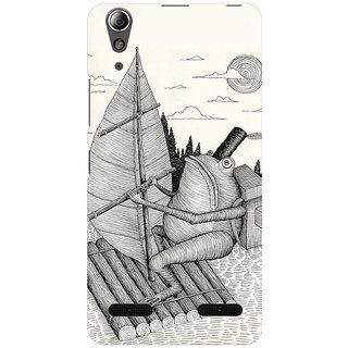 Mobicture Crossing The Lake Premium Printed High Quality Polycarbonate Hard Back Case Cover For Lenovo A6000 Plus With Edge To Edge Printing