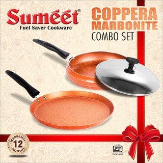 Sumeet Nonstick Coppera Marbonite Coimbo Set (3pcs)
