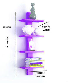 The New Look 4 Tier Wall Shelf
