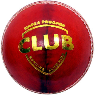 W sports 4 Piece - Club Genuine Leather Hand Sewn Ball - Pack of 1 (4 Piece ball) Color - Red